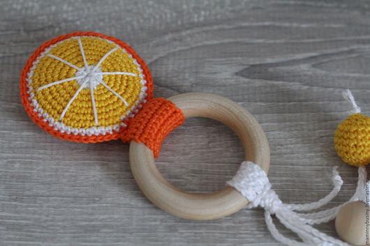 """Слингобусы ручной работы. Ярмарка Мастеров - ручная работа. Купить Прорезыватель - кольцо """"Цитрус. Апельсин"""". Handmade. Оранжевый, игрушка для малыша"""