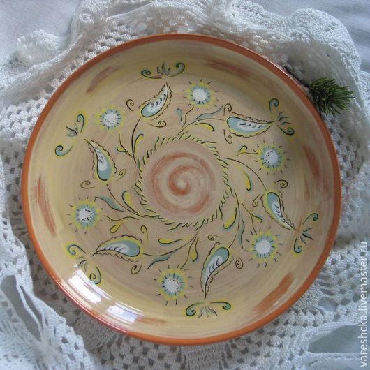 Тарелки ручной работы. Ярмарка Мастеров - ручная работа. Купить Тарелка Травы - муравы. Handmade. Тарелка, тарелка из глины