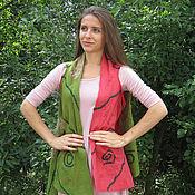 Одежда handmade. Livemaster - original item Vest - transformer felted, felted vest, cloak. Handmade.