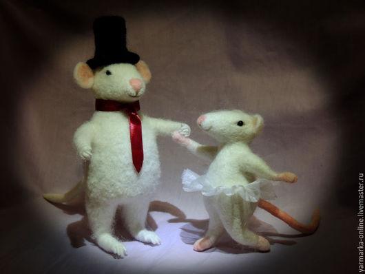 Игрушки животные, ручной работы. Ярмарка Мастеров - ручная работа. Купить Мышки. Handmade. Мышки, шерсть, войлочная игрушка