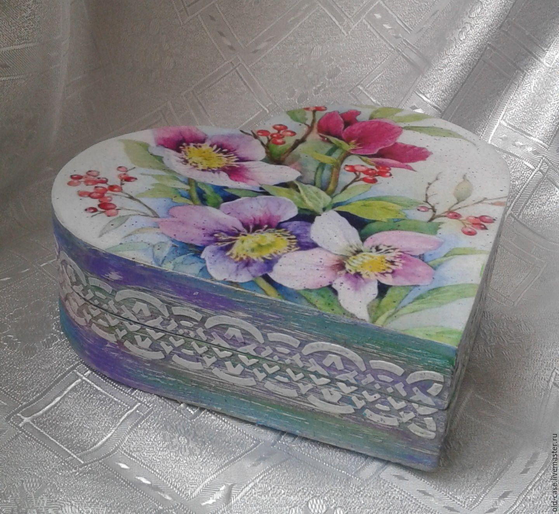 Цветы на шкатулке фото