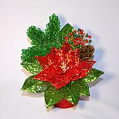 Цветы и флористика handmade. Livemaster - original item Christmas star-poinsettia. Handmade.