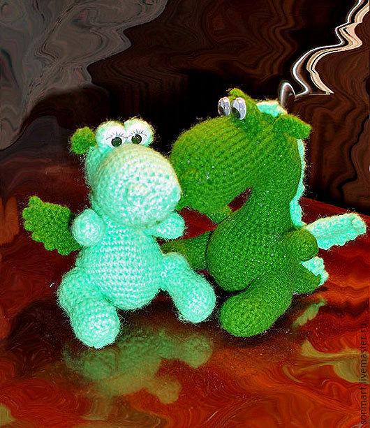 Игрушки животные, ручной работы. Ярмарка Мастеров - ручная работа. Купить Маленькие дракончики. Handmade. Зеленый, дракон игрушка