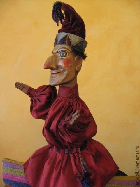 Кукольный театр ручной работы. Ярмарка Мастеров - ручная работа. Купить Петрушка. Handmade. Петрушка, профессиональная кукла, кожа