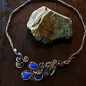 Украшения handmade. Livemaster - original item Necklace with sapphires. Handmade.