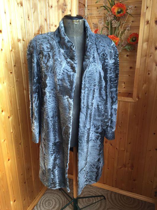 Одежда. Ярмарка Мастеров - ручная работа. Купить Пальто из каракульчи Япония винтаж. Handmade. Серый, жакет из каракульчи