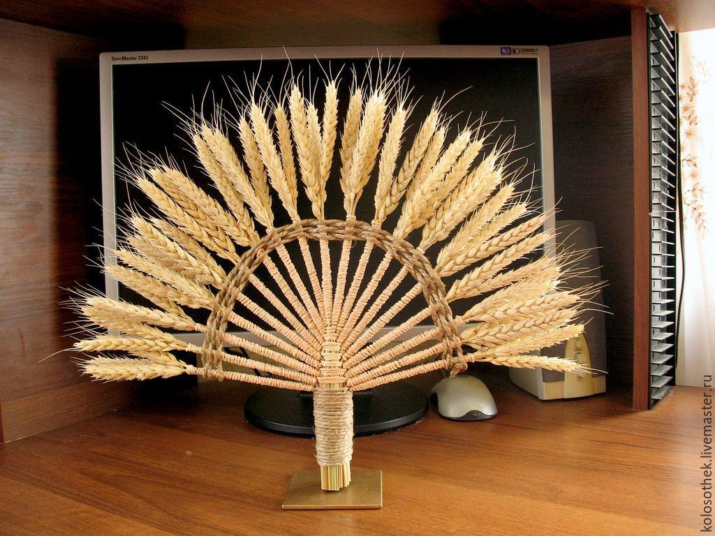 Поделка из колосков пшеницы своими руками