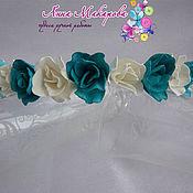 Украшения ручной работы. Ярмарка Мастеров - ручная работа Ободок с голубыми розами из фоамирана. Handmade.