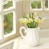 Miniature figurines handmade. Livemaster - original item Daffodils in the scale 1: 12. Handmade.