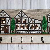 handmade. Livemaster - original item Housekeeper: Housekeeper Alpine Village. Wall-mounted housekeeper.Option 1.. Handmade.