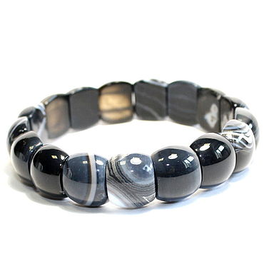 Decorations handmade. Livemaster - original item Bracelet natural black agate. Handmade.