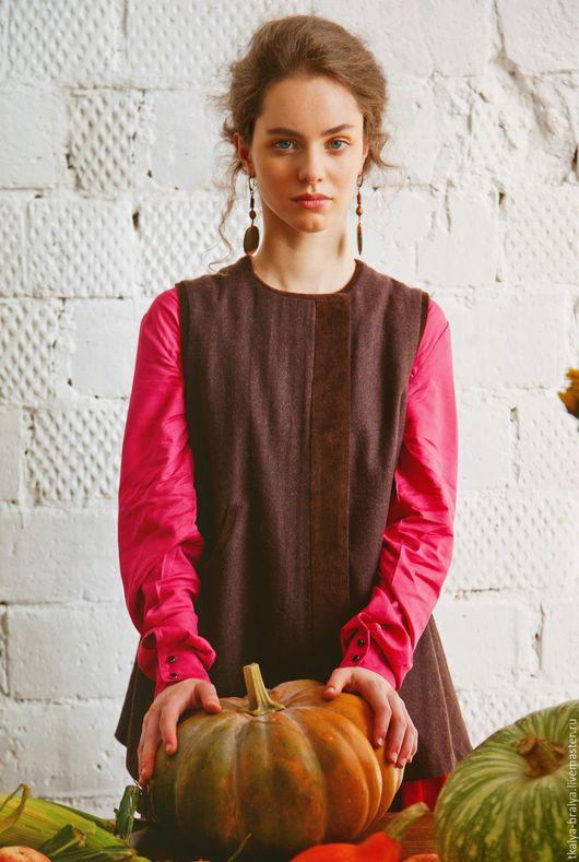 Этническая одежда ручной работы. Ярмарка Мастеров - ручная работа. Купить Корсетка темно-коричневая. Handmade. Коричневый, длинная, традиционная