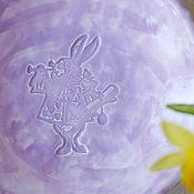 """Посуда ручной работы. Ярмарка Мастеров - ручная работа Тарелка """"Следуй за белым кроликом"""". Handmade."""