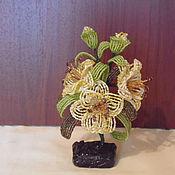Цветы и флористика ручной работы. Ярмарка Мастеров - ручная работа Лилия из бисера. Handmade.