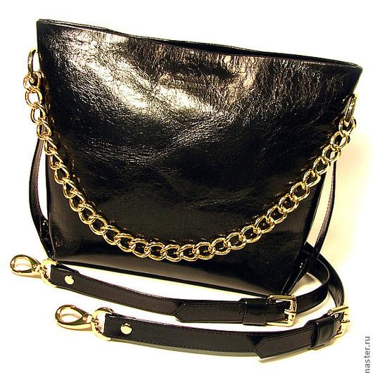 """Женские сумки ручной работы. Ярмарка Мастеров - ручная работа. Купить Женская кожаная сумка """"Laddy black"""". Handmade. Черный"""