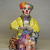Для дома и интерьера handmade. Livemaster - original item Clown and friends.The statuette on the shelf.. Handmade.