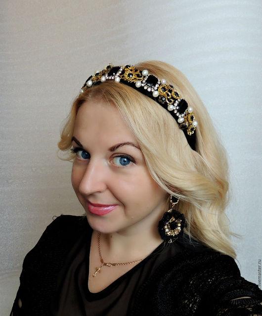 Диадемы, обручи ручной работы. Ярмарка Мастеров - ручная работа. Купить Тиара для волос в стиле Дольче Габбана Салерно. Handmade.