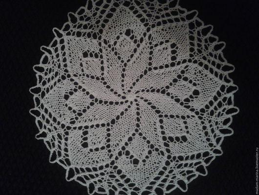 Текстиль, ковры ручной работы. Ярмарка Мастеров - ручная работа. Купить Ажурная круглая салфетка. Handmade. Белый, круглая салфетка