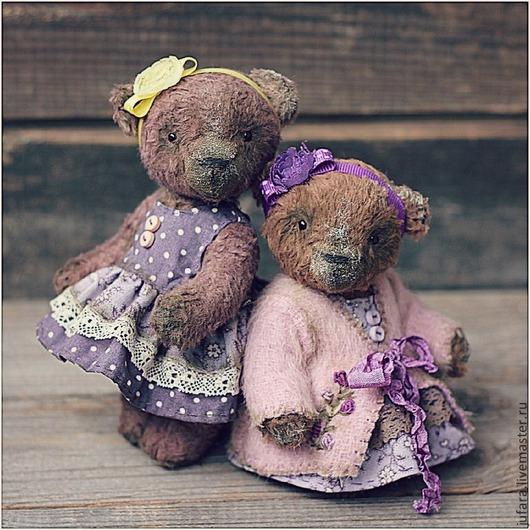Мишки Тедди ручной работы. Ярмарка Мастеров - ручная работа. Купить Teddy bear Little sisters. Handmade. Мишки, желтый