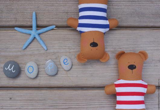 Куклы Тильды ручной работы. Ярмарка Мастеров - ручная работа. Купить Морские мишки. Handmade. Коричневый, морская тематика, для детей