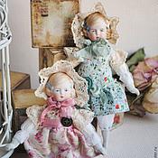 Винтаж ручной работы. Ярмарка Мастеров - ручная работа Куклы антикварные двойняшки Эмма и Катрин. Handmade.