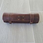 Классическая сумка ручной работы. Ярмарка Мастеров - ручная работа Тубус (жесткий футляр) для документов. Handmade.