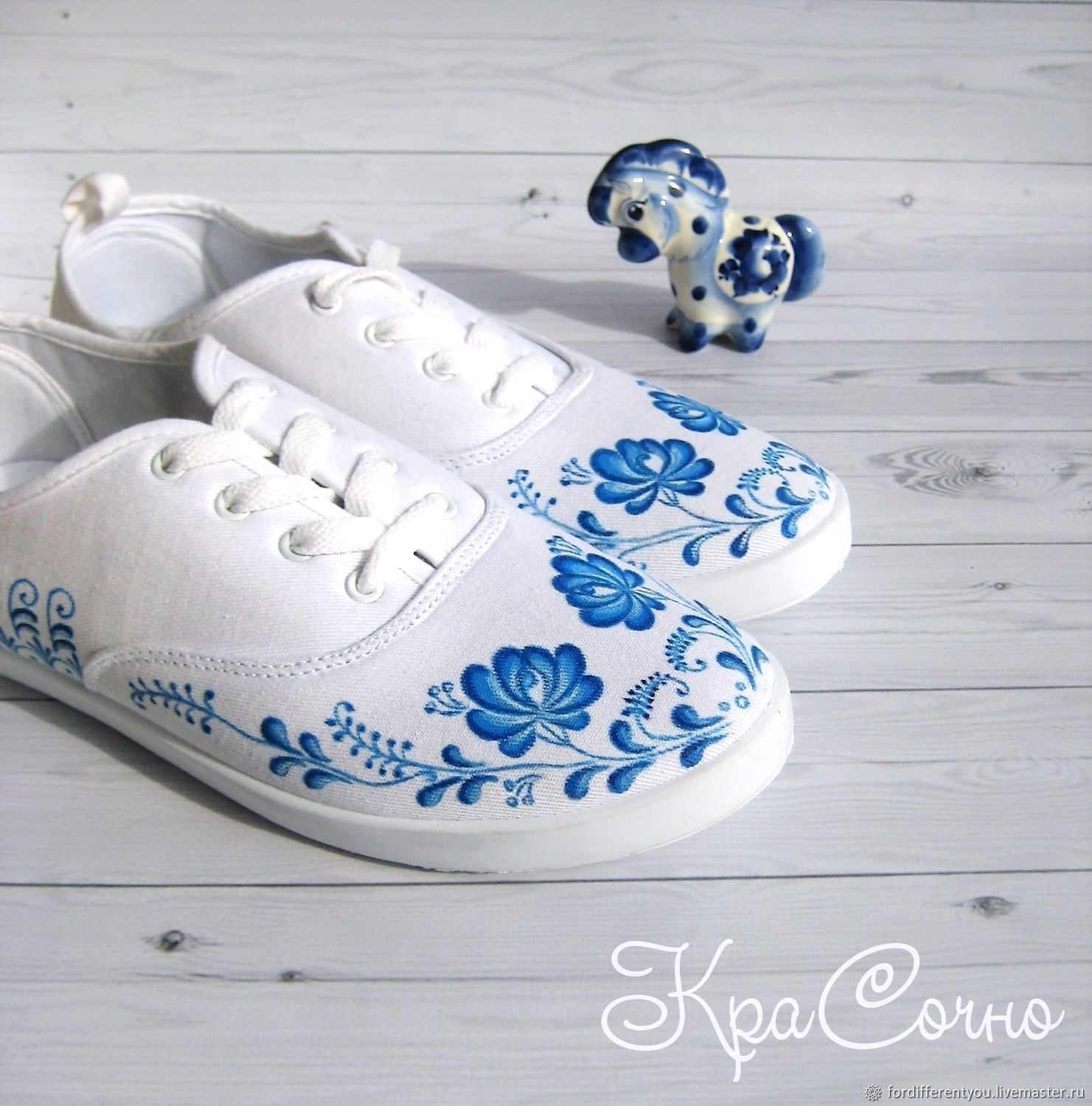 Sneakers: Sneakers painted shoes with a