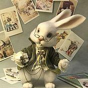 Мягкие игрушки ручной работы. Ярмарка Мастеров - ручная работа Белый Кролик Алисы. Handmade.