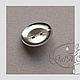 """Для украшений ручной работы. Основа для броши 23 мм  """"значок"""" цвет - серебро.. GalA beads. Интернет-магазин Ярмарка Мастеров."""