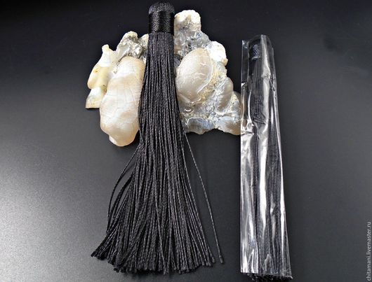 Для украшений ручной работы. Ярмарка Мастеров - ручная работа. Купить Кисть 12см.  цвет черный  кис-15. Handmade.