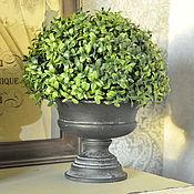 Дача и сад handmade. Livemaster - original item Pot on the leg of an Antique bowl from concrete Provence Vintage garden. Handmade.