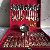 Vintage Cutlery handmade. Livemaster - original item Cutlery set for 6 persons. GDR, 80s. Handmade.