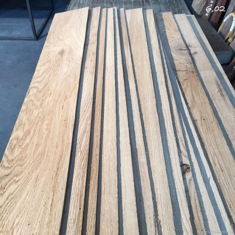 Furniture lamella, sawn oak veneer, Materials for carpentry, Moscow,  Фото №1