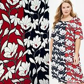 Материалы для творчества handmade. Livemaster - original item Fabric: Pletely crepe - two-color - Flowers. Handmade.
