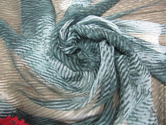 Шитье ручной работы. Ярмарка Мастеров - ручная работа. Купить Шифон шелк 100% Розы  ткань пр-во Италия. Handmade.