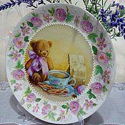 """Посуда ручной работы. Ярмарка Мастеров - ручная работа Тарелка """"Мой любимый мишка"""". Handmade."""