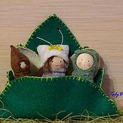 Куклы и игрушки ручной работы. Ярмарка Мастеров - ручная работа Деревянные куколки - превращение в бабочку. Handmade.