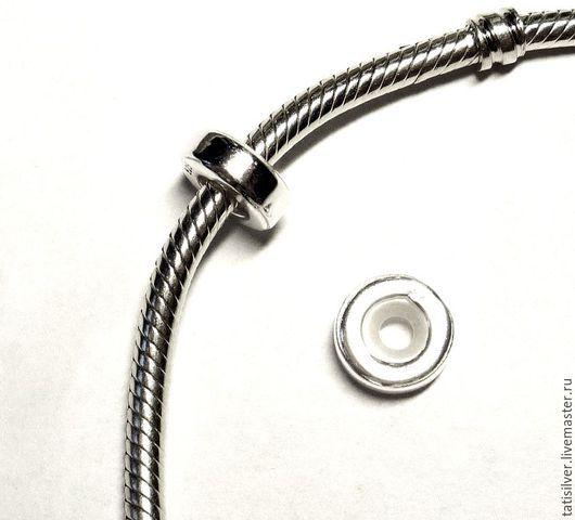 Для украшений ручной работы. Ярмарка Мастеров - ручная работа. Купить Стоппер для браслета Серебро 925. Handmade.