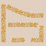 Наборы для творчества ручной работы. Ярмарка Мастеров - ручная работа Дизайны машинной вышивки набор бордюров bt102a. Handmade.