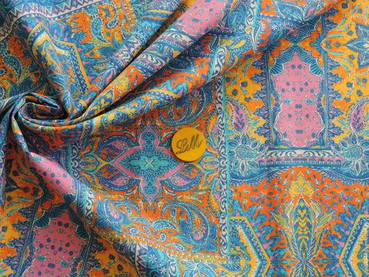 Шитье ручной работы. Ярмарка Мастеров - ручная работа. Купить Ткань рогожка пэчворк голубой. Handmade. Ткань рогожка