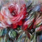Картины и панно handmade. Livemaster - original item Picture of hair Beauty rose. Handmade.