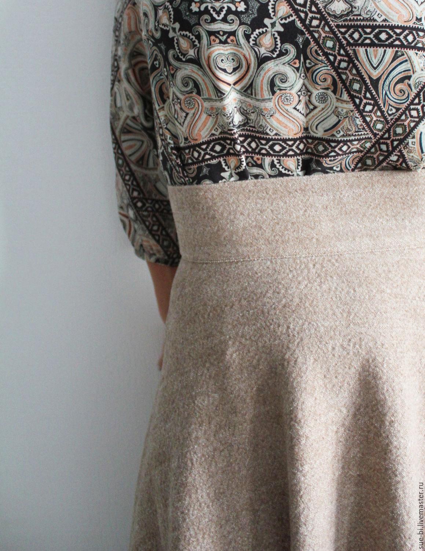 0b23839f184 LADY SHRI (ОЛЬГА Юбки ручной работы. Длинная юбка полусолнце из шерсти  COCCINELLE.