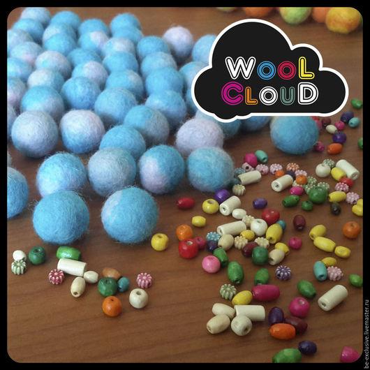 Войлочные бусины для украшений и творчества. WooL ClouD