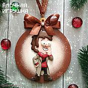 Елочные игрушки ручной работы. Ярмарка Мастеров - ручная работа Елочные игрушки: Гравити Фолз (Gravity Falls) Диппер - Форд. Handmade.