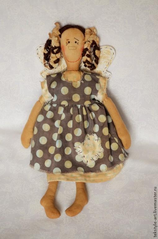 Коллекционные куклы ручной работы. Ярмарка Мастеров - ручная работа. Купить Мечтательница Ася. Handmade. Голубой, кукла ручной работы