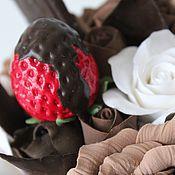 Цветы и флористика ручной работы. Ярмарка Мастеров - ручная работа Клубника с шоколадом. Handmade.