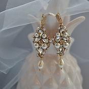 Украшения handmade. Livemaster - original item Earrings for bride. Handmade.
