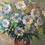 """Картины ручной работы. Ярмарка Мастеров - ручная работа """"Любимые ромашки"""" картина маслом. Handmade."""