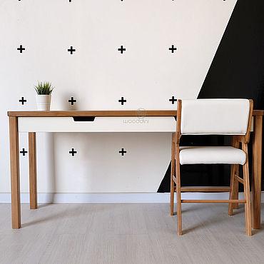 Мебель ручной работы. Ярмарка Мастеров - ручная работа Стол письменный из бука XL 60х160. Handmade.