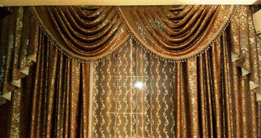 Текстиль, ковры ручной работы. Ярмарка Мастеров - ручная работа. Купить шторы для спальни. Handmade. Шторы, пошив штор, занавески